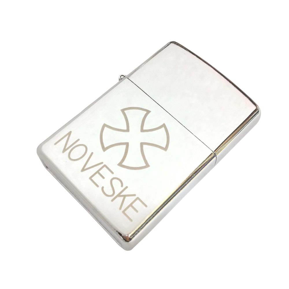 レーザー刻印加工例|オイルライター(白彫)